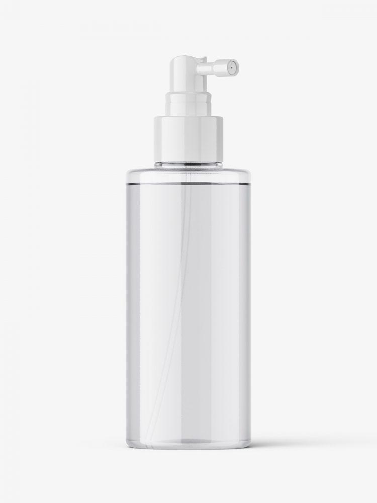 Clear dispenser bottle mockup
