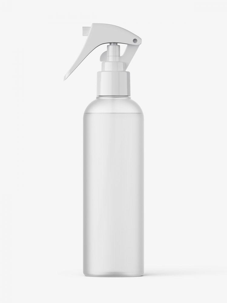 Frosted trigger spray bottle mockup
