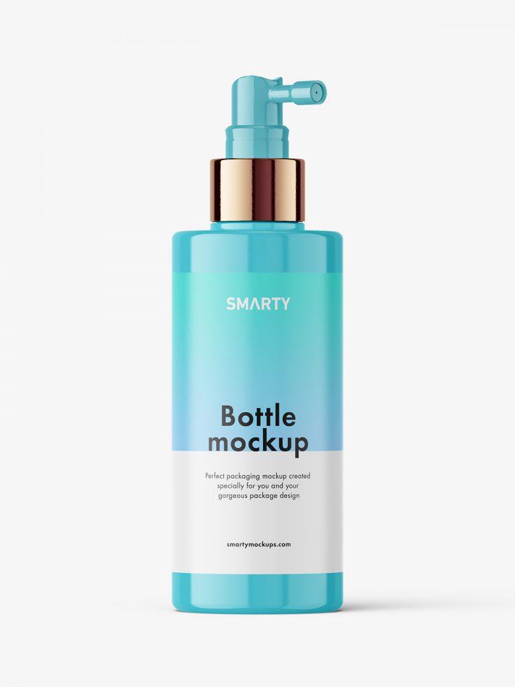 Glossy dispenser bottle mockup