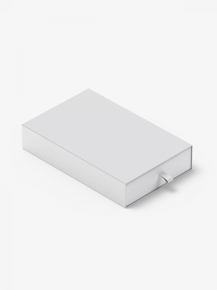 Box with puller mockup / 130x200x40 mm