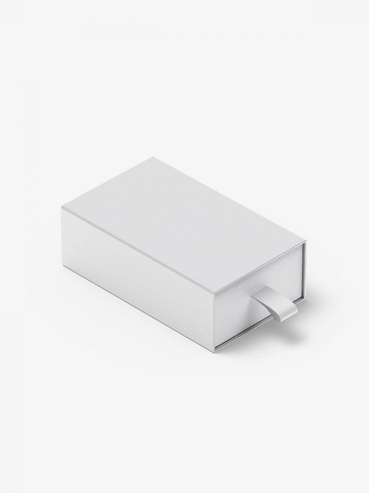 Box with puller mockup / 55x90x30 mm