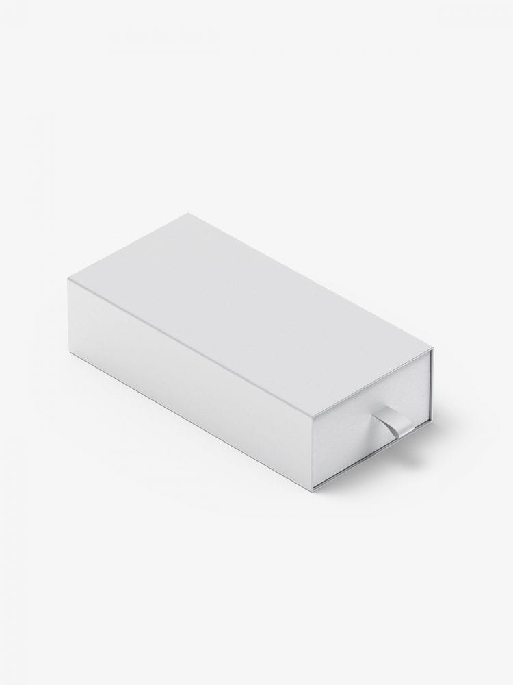 Box with puller mockup / 80x160x40 mm