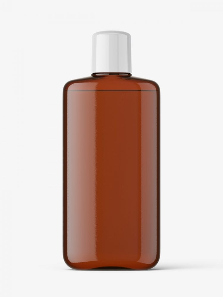 Amber bottle with rounded screwcap mockup