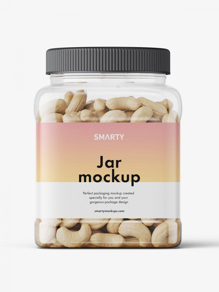 Cashew Nut Jar Mockup