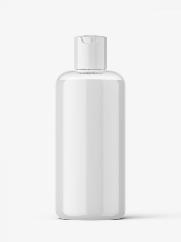 Cream bottle with disctop mockup