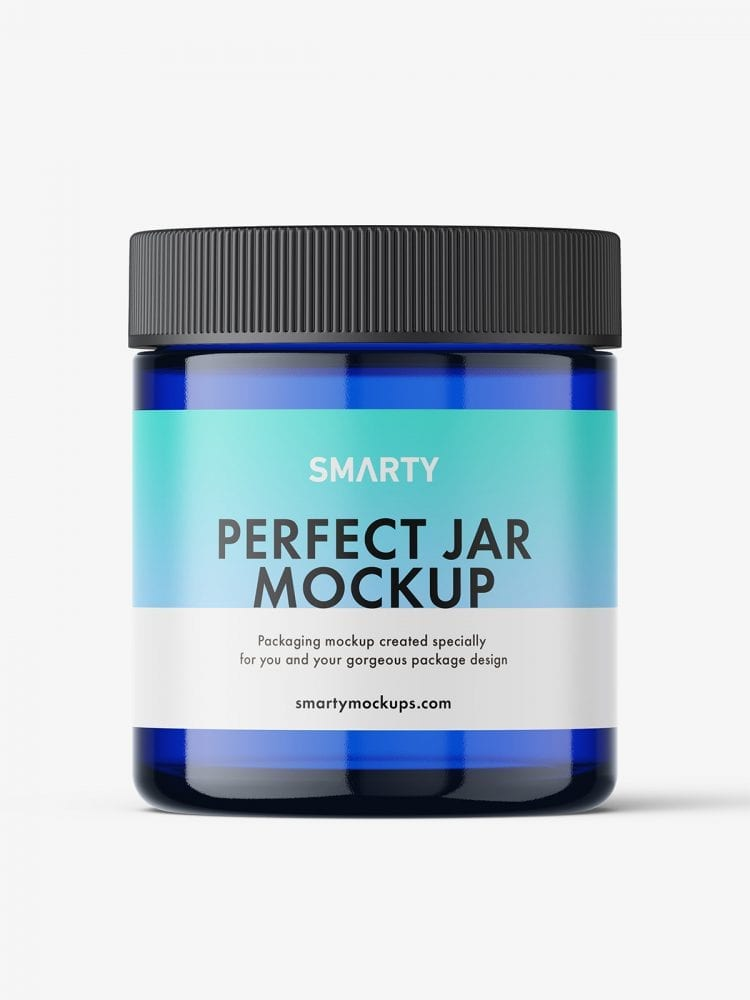 Blue jar mockup
