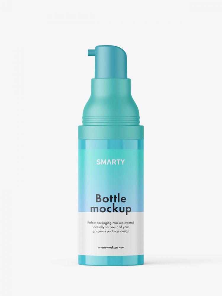 Glossy airless bottle mockup