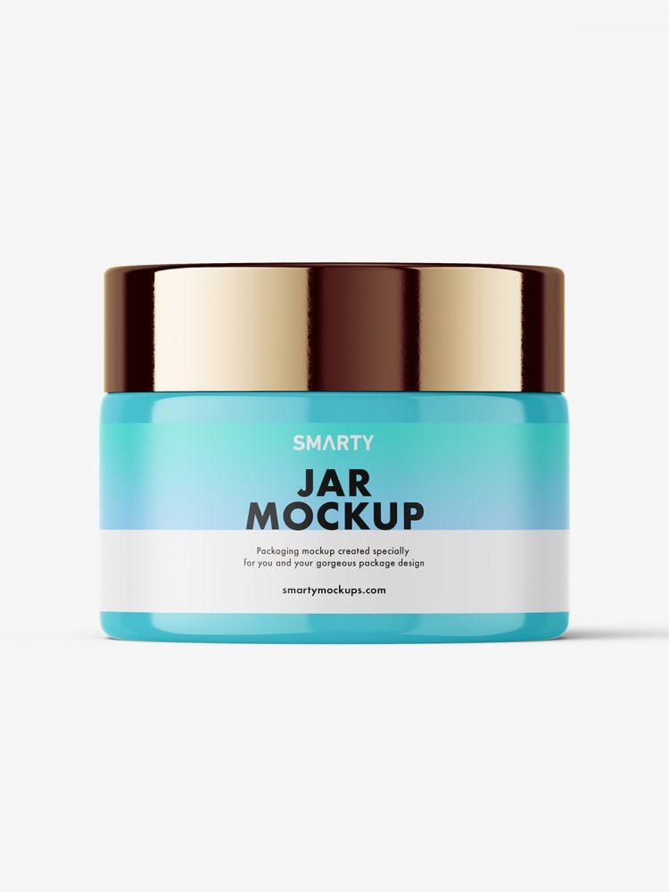 Cosmetic jar mockup / glossy