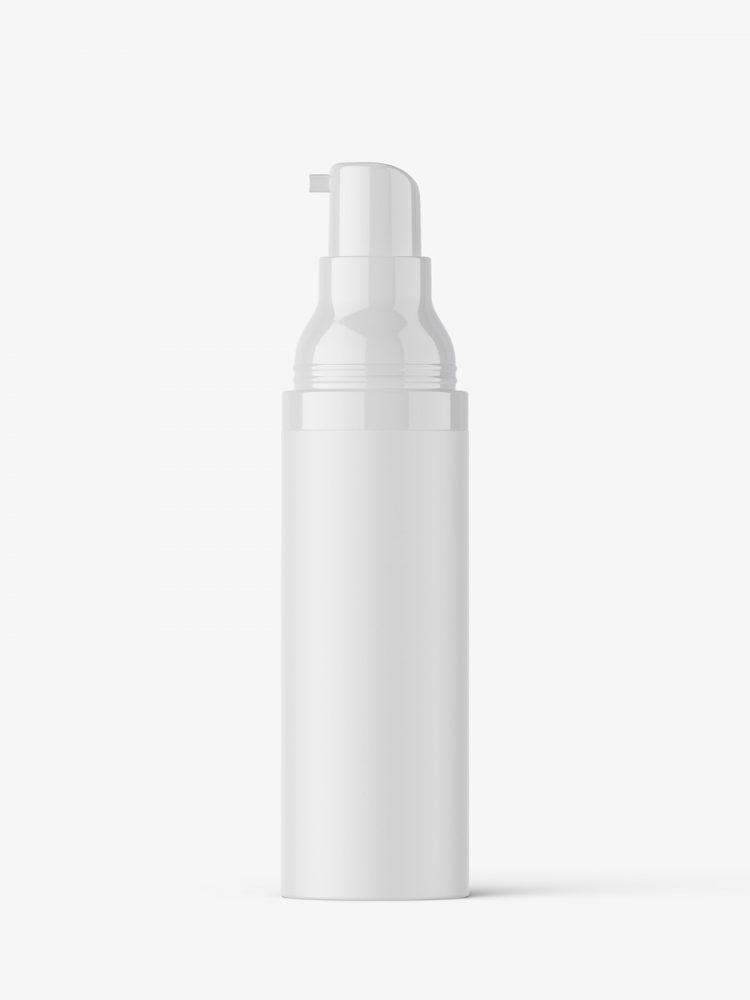Matt airless bottle mockup