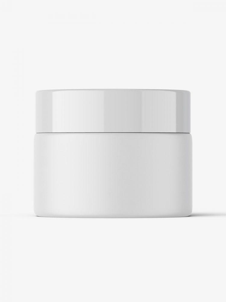 Cosmetic jar mockup / matt