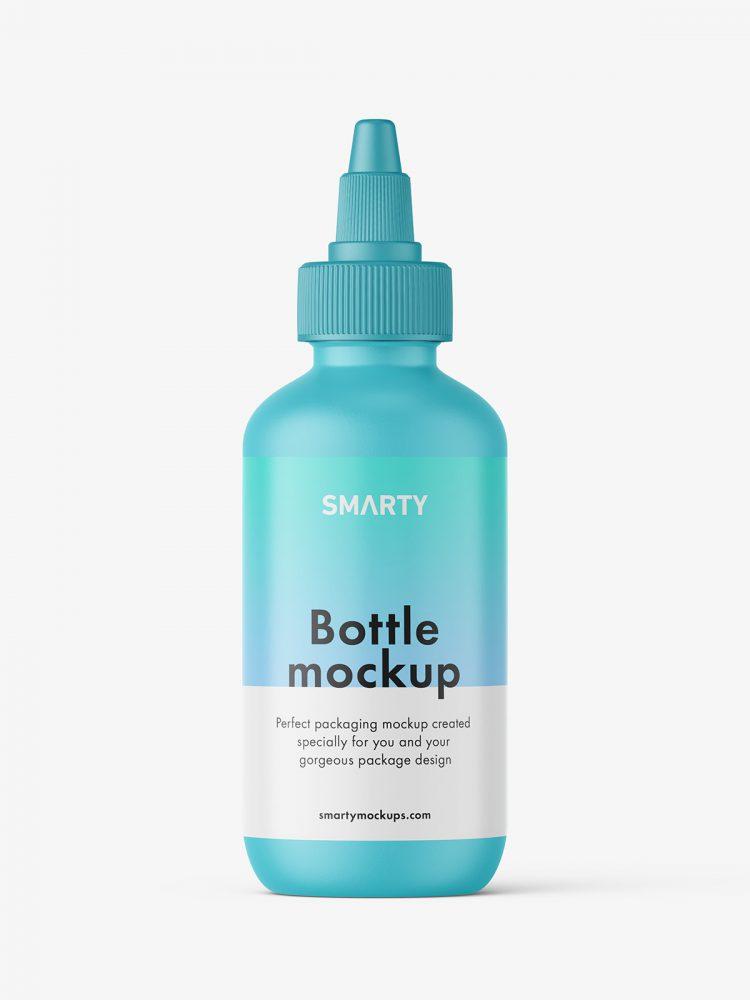Matt dropper bottle mockup