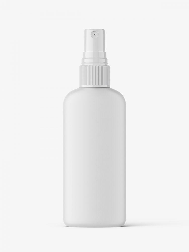 Mist spray bottle mockup / matt