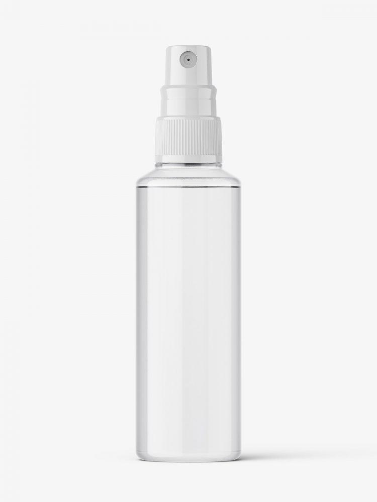 Mist spray bottle mockup / clear