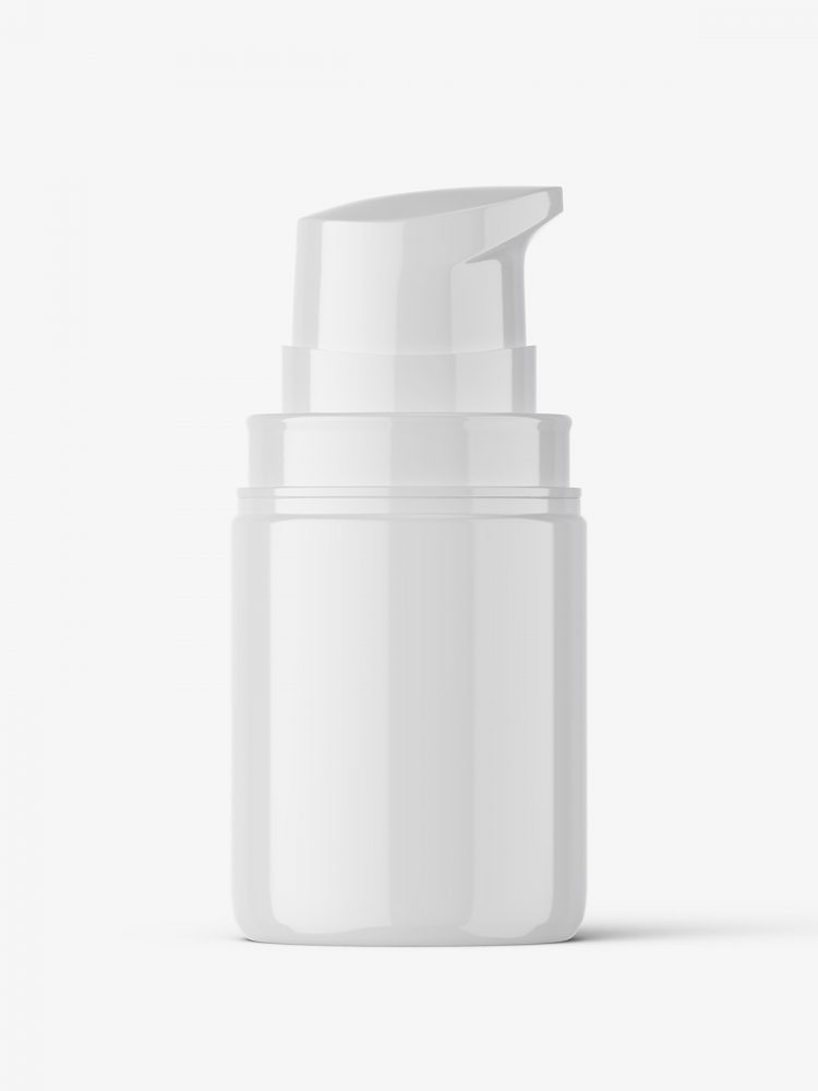 Airless bottle mockup / glossy