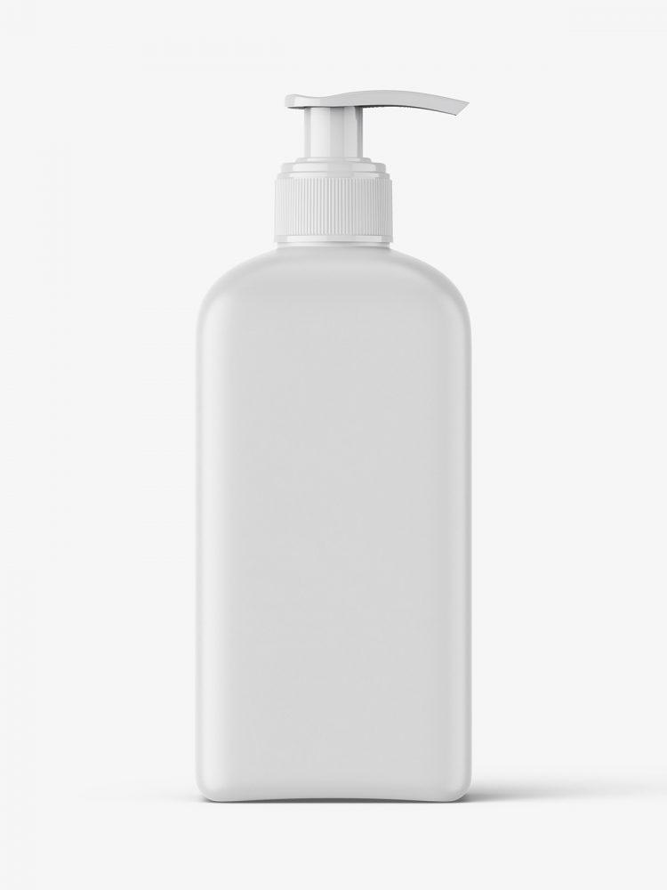 Rectangle pump bottle mockup / 500 ml